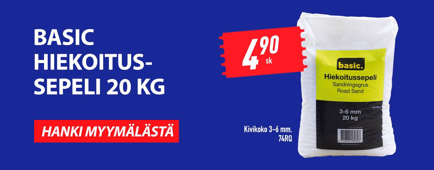 Hiekoitussepeli 20 kg