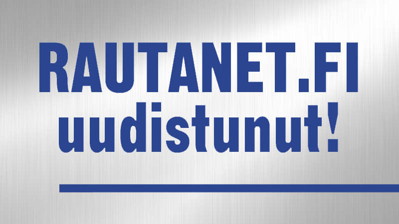 Rautanet.fi on uudistunut